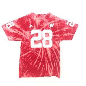 U of Wisconsin custom dyed tshirt